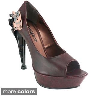 Hades Women's 'Titan' Peep Toe Mary Jane Platform Heels