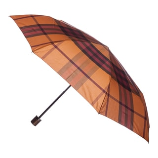 Burberry Gold Freesia Check Folding Umbrella