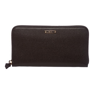 Fendi 'Crayons' Black Leather Zip-around Wallet
