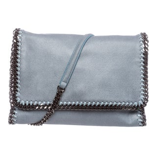 Stella McCartney 'Falabella' Light Blue Shaggy Deer Crossbody