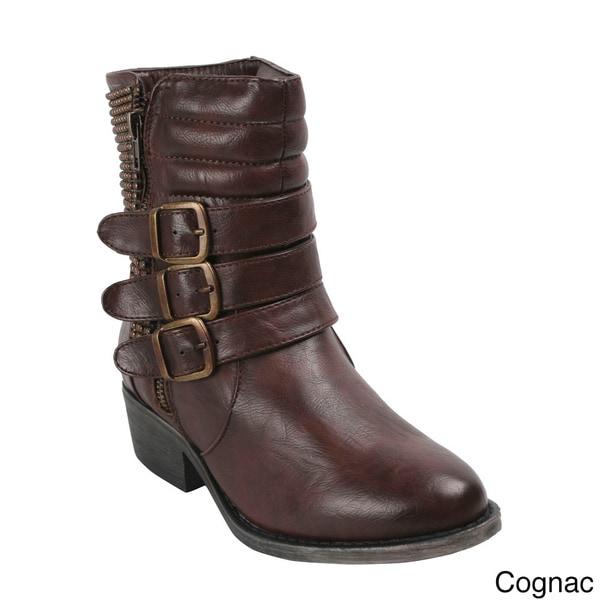 Bumper Women's 'Harper01' Round Toe Mid-Calf Boots