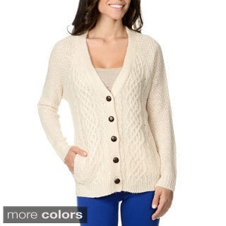 Olive & Oak Women's Cardigan Boyfriend Sweater