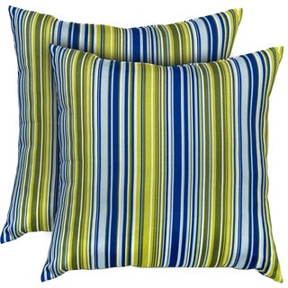 Vivid Stripe Indoor Accent Pillows (Set of 2)