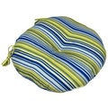 Vivid Stripe Indoor Bistro Chair Round Cushion (Set of 2)