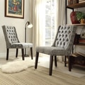 Inspire Q Alya Medallion Floral Tufted Back Hostess Chair (Set of 2)