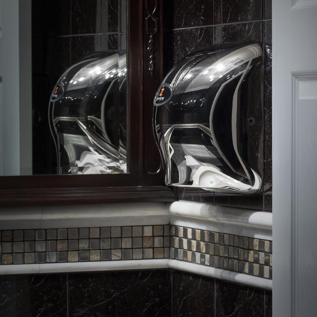 super fast chrome commercial hand dryer