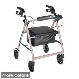 Rollator Walker with Fold-up and Removable Back Support and Padded Seat