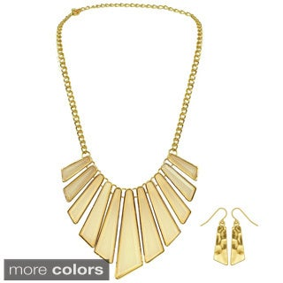Kate Marie Goldtone Base Metal Fashion Necklace Set