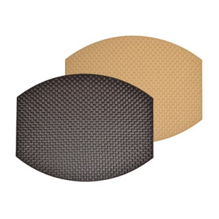 Reversible Faux Leather Weave Brown/ Gold Placemats (Set of 2)