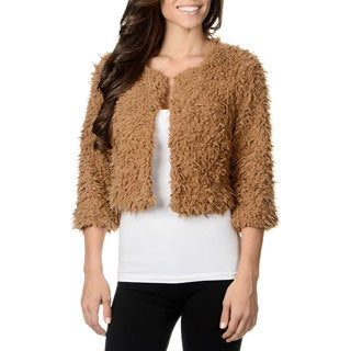 Amanda Charles Women's Chocolate Faux Fur Bolero