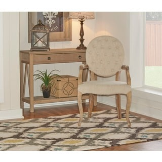 Oh! Home Trio Collection Light Ikat Rug (8' x 10')