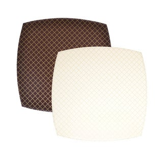 Reversible Faux Leather Quilted Cream/ Brown Placemats (Set of 2)
