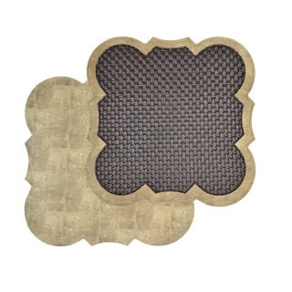 Reversible Faux Leather Brown Weave/ Tan Snakeskin Placemats (Set of 2)