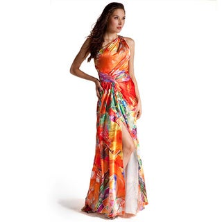 Floral One Shoulder Evening dress