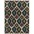 Trio Collection Dark Ikat Rug 5x7
