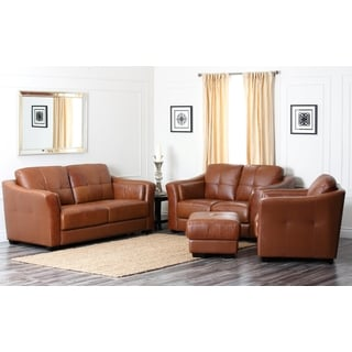 Abbyson Living Westwood Premium Leather 4-piece Living Room Furniture Set
