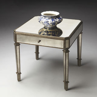 Elegant Mirrored Small Table