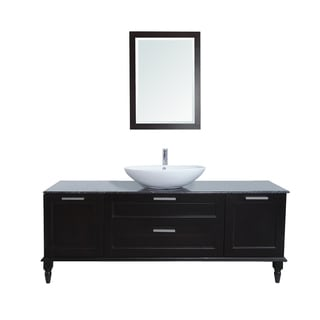Philippe Nero Margiua Marble Top 72-inch Single Sink Bathroom Vanity