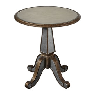 Eraman Antiqued Rustic Gold Accent Table