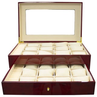 Cherrywood Watch Case and Display
