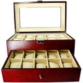 Luxury Jewelry and Watch Display Box Cherrywood
