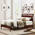Filton Queen-size Cherry Bed with Bonus Nightstand