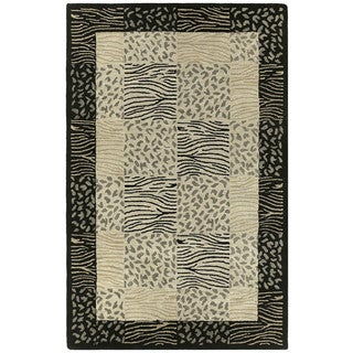Hand-tufted Lawrence Multi Print Wool Rug (9'6 x 13')