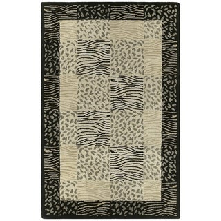 Hand-tufted Lawrence Multi Print Wool Rug (5' x 7'9)