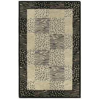 Hand-tufted Lawrence Multi Print Wool Rug (7'6 x 9')