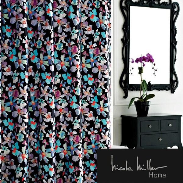 Nicole Miller Watermark Satin Shower Curtain