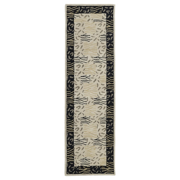 Hand-tufted Lawrence Multi Print Wool Runner Rug (2'3 x 7'6)