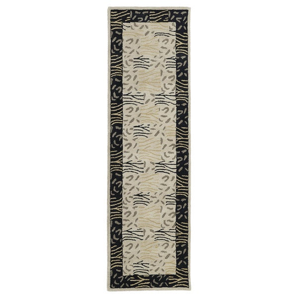 Hand-tufted Lawrence Multi Print Wool Runner Rug (2'3 x 7'6)