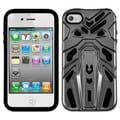 BasAcc Gray Plating/ Black Zenobots Hybrid Case for Apple iPhone 4S/ 4