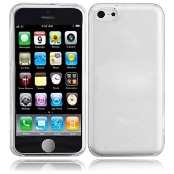 INSTEN Clear TPU Matte Rubberized Rubber Candy Skin Phone Case Cover for Apple iPhone 5C