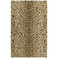 Hand-tufted Lawrence Cheetah Gold Wool Rug (3' x 5')