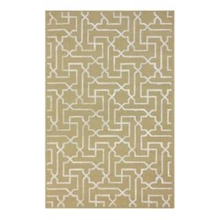 nuLOOM Moroccan Maze Printed Natural Fiber Jute Rug (8' x 10')