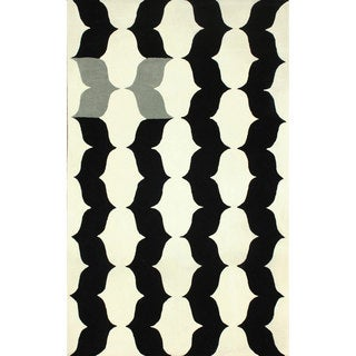 nuLOOM Handmade Modern X Trellis Wool Rug (7'6 x 9'6)