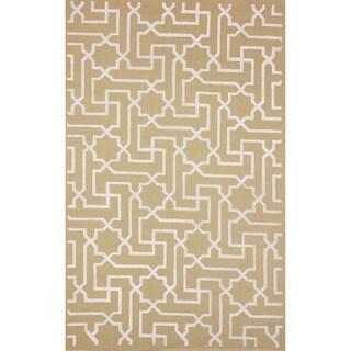 nuLOOM Moroccan Maze Printed Natural Fiber Jute Rug (5' x 8')