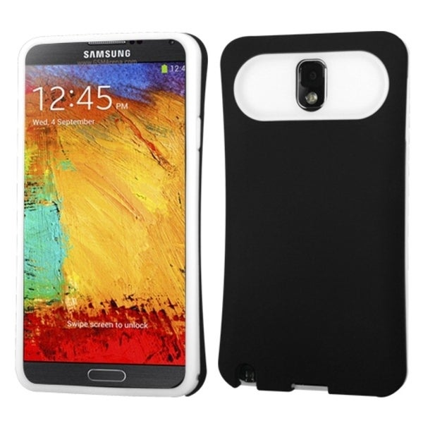 INSTEN Black/ White Wallet Phone Case Cover for Samsung N900A Galaxy Note 3