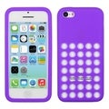BasAcc Dark Purple with Holes Solid Skin Case for Apple iPhone 5C