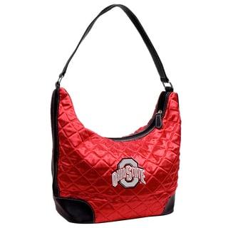 Little Earth NCAA Ohio State Buckeyes Quilted Hobo Handbag