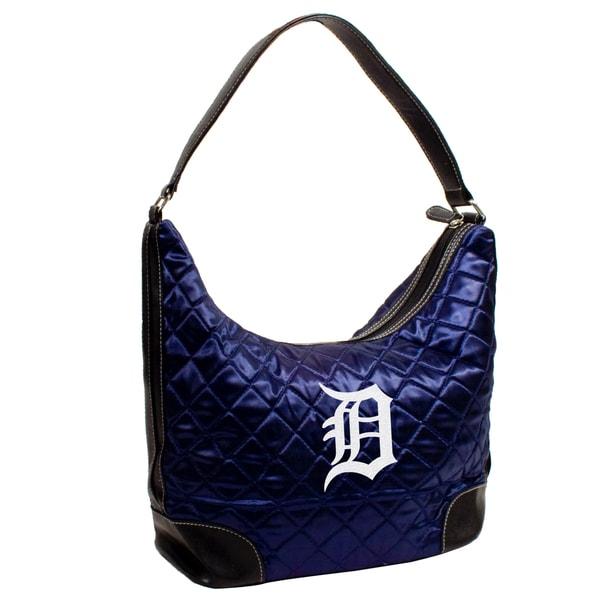 Little Earth MLB Detroit Tigers Quilted Hobo Handbag