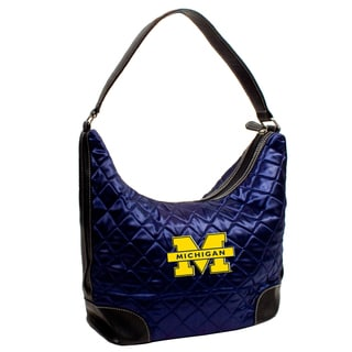 Little Earth NCAA Michigan Wolverines Quilted Hobo Handbag