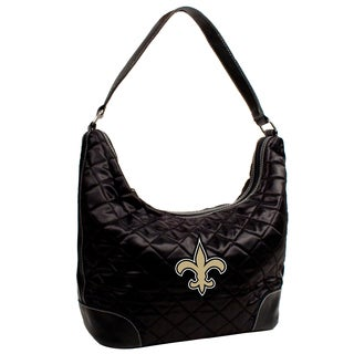 Little Earth NFL New Orleans Saints Quilted Hobo Handbag