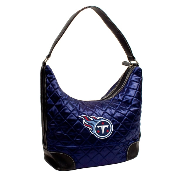 Little Earth NFL Tennessee Titans Quilted Hobo Handbag