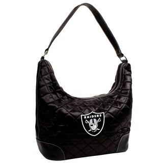 Little Earth NFL Oakland Raiders Quilted Hobo Handbag