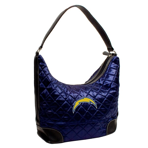 Little Earth NFL San Diego Chargers Quilted Hobo Handbag 12117095