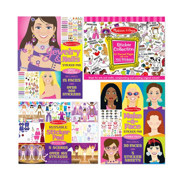 Melissa & Doug Girls Sticker Bundle