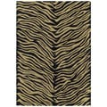 Hand-tufted Lawrence Zebra Black Wool Rug (2' x 3')