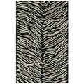 Hand-tufted Lawrence Zebra Wool Rug (3'0 x 5'0)